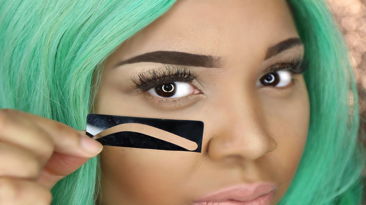 How To Use Eyebrow Stencil Perfect Eyebrows Youtube