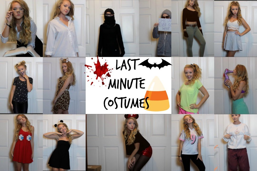 15 EXTREMELY LAST MINUTE DIY HALLOWEEN COSTUMES! - YouTube