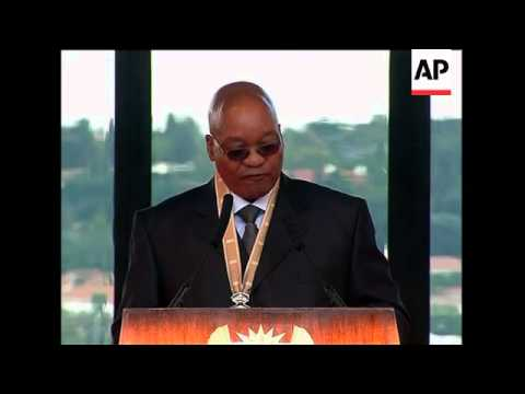 Zuma sworn in as president,  more of address
