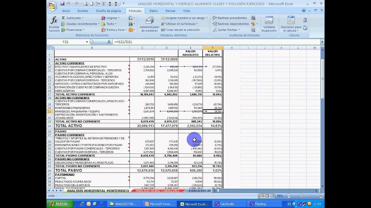 An lisis horizontal estados youtube for Analisis de balances