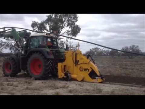AFT Wizz Wheel 75 with soil evacuation chute, cable laying in Australia http://www.trenchers.co.uk