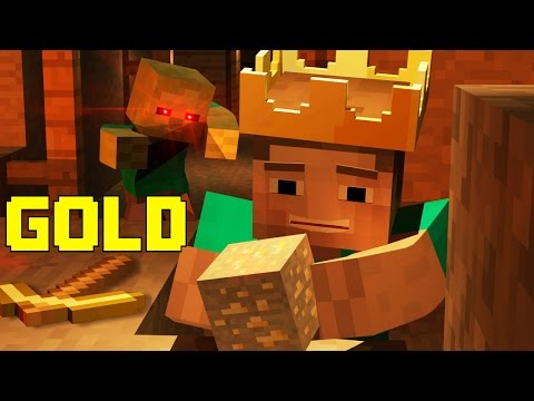 "♫""Gold"" An Animated Minecraft Parody Song of Rude by Magic (Music Video)"