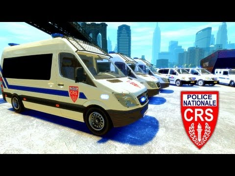 GTA IV Mods French : CRS Police Nationale