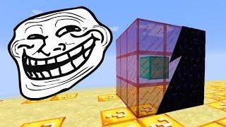 Minecraft CUBÃO : TROLLAGEM TOTEM DE OBSIDIAN INVISIVEL !! (MINECRAFT TROLL)