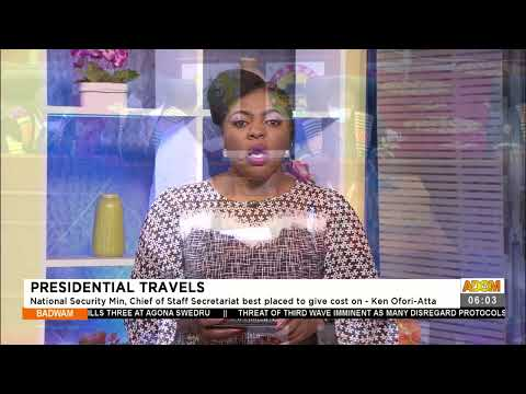 Presidential Travels - Badwam News on Adom TV (22-7-21)