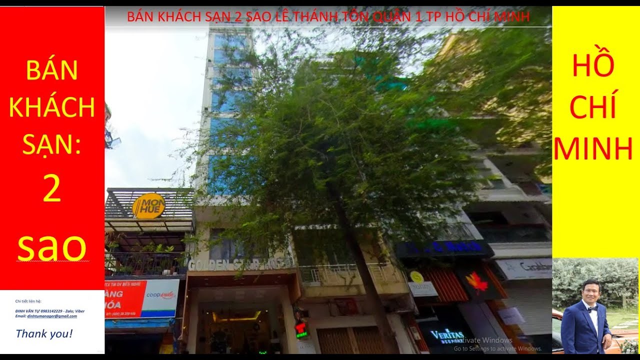 Bán khách sạn 60 Lê Thánh Tôn phường Bến Nghé quận 1 tp Hồ Chí MInh