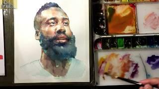 Download Video Watercolor Portrait Tutorial  3X Video(Finishing course 2/2)  인물수채화 마무리단계 -3배속 MP3 3GP MP4