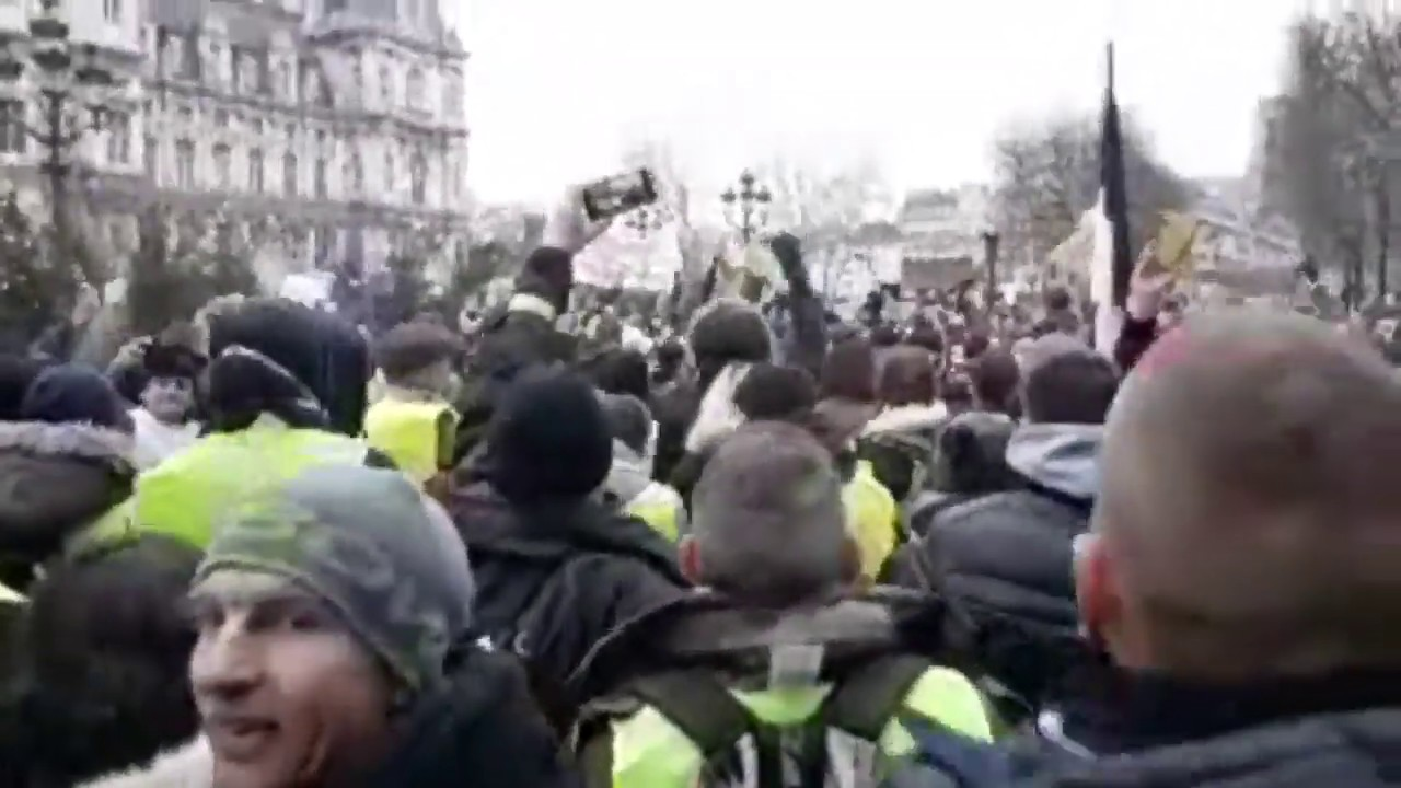 Paryż początek demonstracji na żywo - 05.01.2019 Żółte kamizelki
