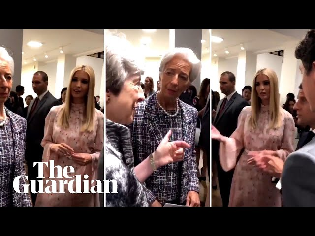 Ivanka Trump seen chatting with Macron, Trudeau, Lagarde and May