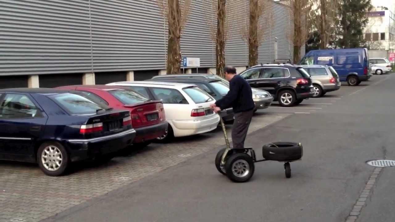 Der Einrad-Anhänger für den Segway - YouTube