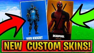 CUSTOM SKINS IN FORTNITE! - NINJASHYPER SKIN, DEAD POOL SKIN & MORE! (Fortnite Battle Royale Skins)