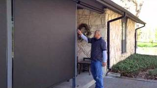 Manual Outside Patio Screen Shades Austin