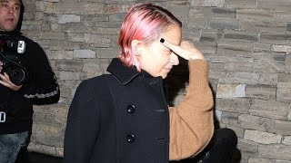 X17 EXCLUSIVE: Nicole Richie Sports Red Hair For Night Out