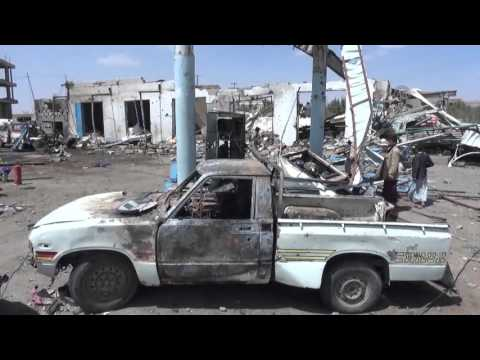 Saudi led coalition hits a gas station in Sana'a