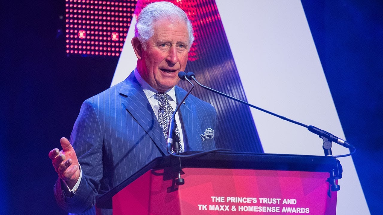 1da5d37ca3f1 Prince Charles greets 'long-lost relation' Danny Dyer on stage at Prince's  Trust Awards