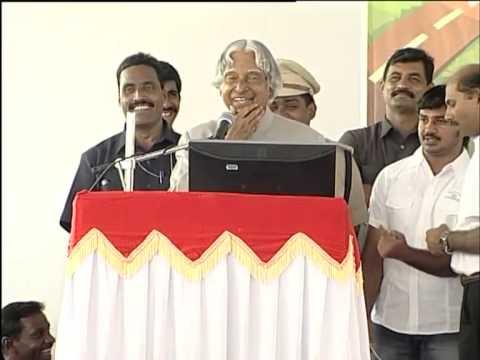 Dr. A.P.J Abdul Kalam Visits Agastya Campus In Kuppam