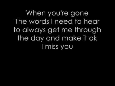 When you're gone - Avril Lavigne (+ Lyrics)