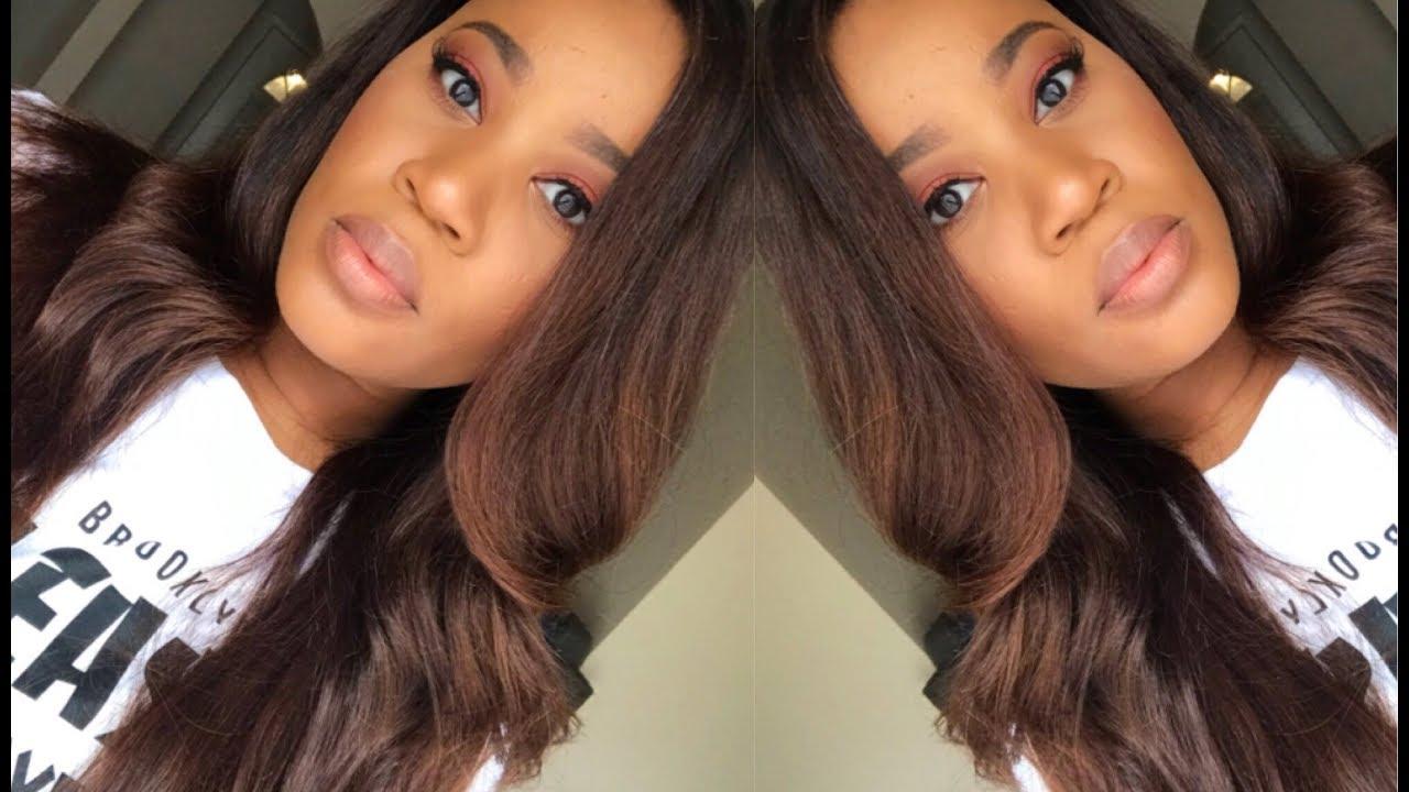 From Dark Hair To Chestnut Brown Using Box Dye Brazilian Straight Hair Donmily
