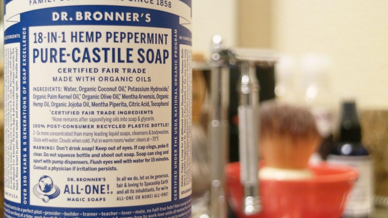 Dr  Bronner's Peppermint Pure Castile Soap | Review