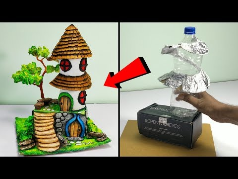 How To Make Beautiful Fairy House Out Of Waste Materials | How To Make Fairy House (PART- 1)