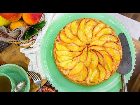 Aida Mollenkamp's Upside-Down Peach Rhubarb Cake - Home & Family