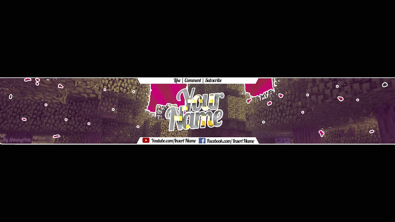 minecraft free youtube banner template 2 youtube. Black Bedroom Furniture Sets. Home Design Ideas