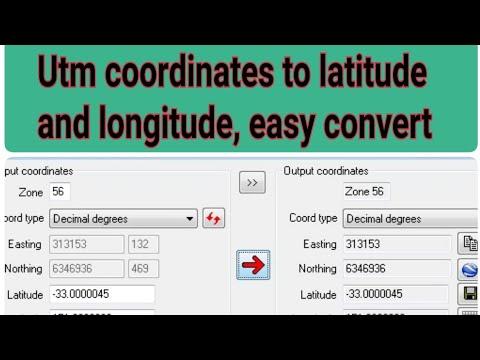 Utm Coordinates Convert To Latitude And Longitude ●| Global Mapper