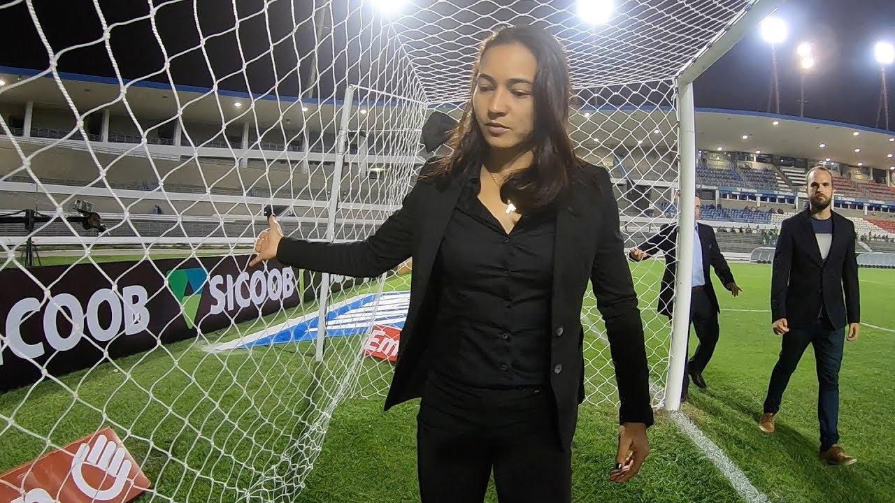 BASTIDORES: EDINA BATISTA comanda jogo da SÉRIE A do BRASILEIRÃO - YouTube