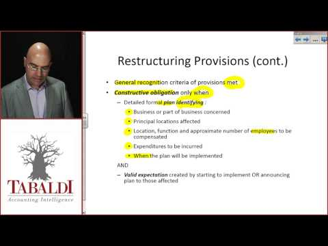 IAS 37 - Restructuring Provisions