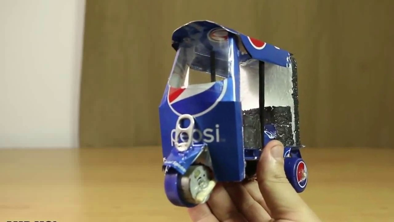 Download How to Make a Electric Rickshaw out of Pepsi Cans