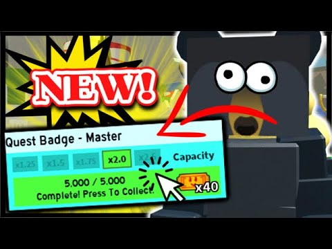5000 QUEST GRAND MASTER BADGE COMPLETE, HUGE BACKPACK & QNA! | Roblox Bee Swarm Simulator