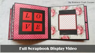 Full Scrapbook Display Video | Scrapbook Ideas | Valentine Scrapbook | Birthday Scrapbook