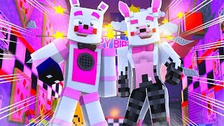 Mangle Visits Funtime Freddy's Pizzeria! Minecraft FNAF Roleplay