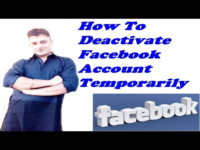 How To Deactivate Facebook Account Temporarily Explained In Hindi
