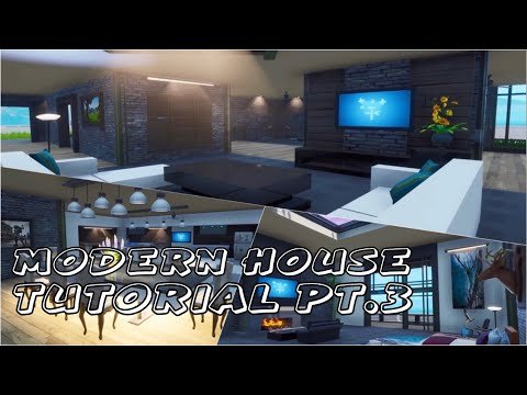 Modern House In Fortnite | Fortnite Creative Tutorial Part 3 (Speed Build)