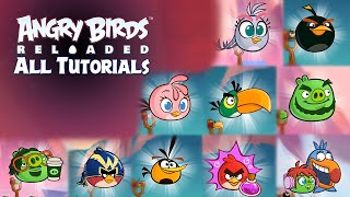 Angry Birds Reloaded - All Gameplays (Tutorials) of All Birds, Pigs and Powers