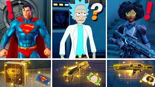 NEW Season 7 ALL BOSSES, MYTHIC WEAPONS, KEYCARD VAULT LOCATIONS! (Boss Superman, Rick , Dr Slone)
