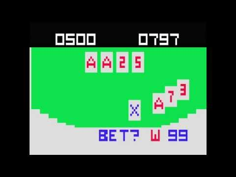 VC 3 - Blackjack - (1976) - Channel F - gameplay HD