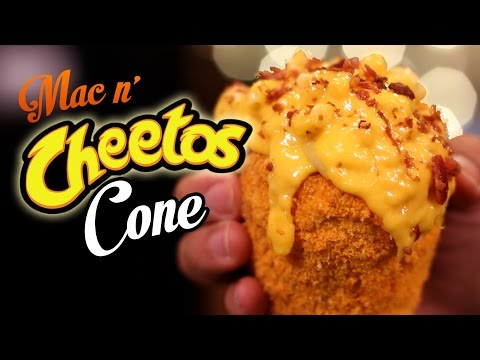 DIY Mac n' Cheetos CONE