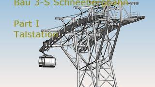 3-S Schneebergbahn, Bau Talstation