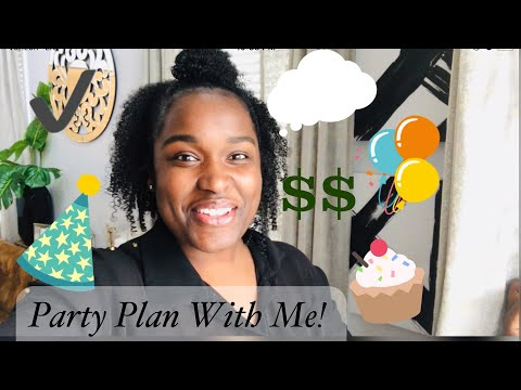 Plan With Me | Tips for Party Planning On A Budget| DIY
