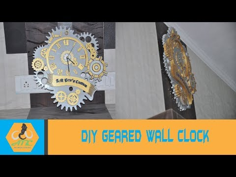 DIY Gear wall clock build