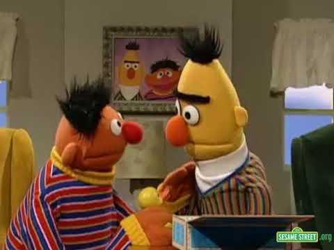 Sesame Street Bert Sings Rubber Duckie To Ernie S Rubber