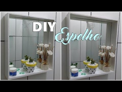 FAÇA VOCÊ MESMO | Espelho Para Banheiro Usando Gaveta! (Lidy Artesanato)