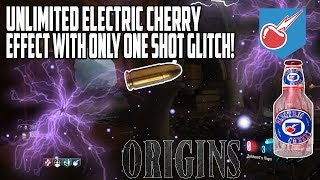 Black ops 3 Origins Glitches - New Unlimited Electric Cherry Effect With Only One Shot Glitch!!