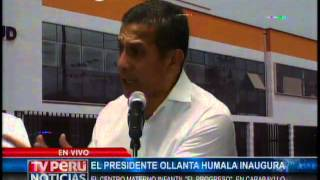 """Inauguración el Centro Materno Infantil """"El Progreso"""", en el Distrito de Carabayllo"""