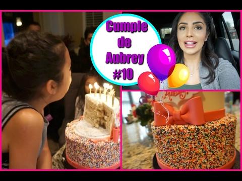 PARTY!! Vean su REGALO y el PASTEL!! Cumpleaños de mi niña Aubrey - Jackie Hernandez Vlogs