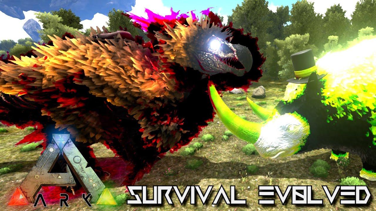 modded ark survival evolved dragons dodo rex rhino
