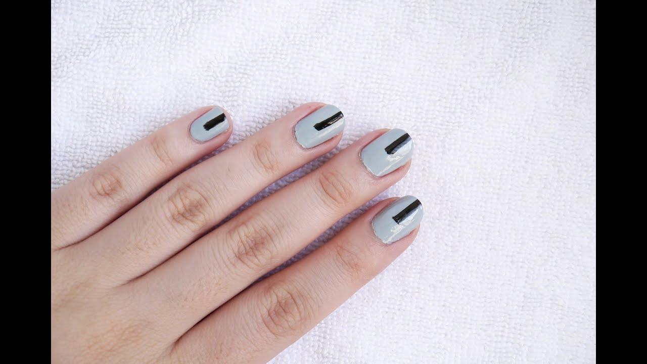 Minimalist nail art youtube prinsesfo Gallery