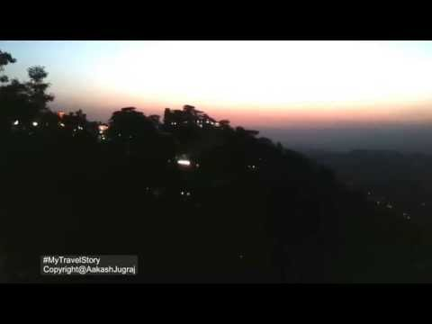 Shimla Night View to  Mall Road Shimla Himachal Pradesh